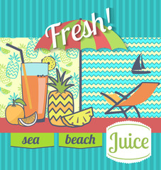 Poster fresh juices