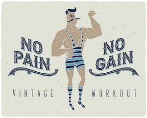 Retro strong man poster