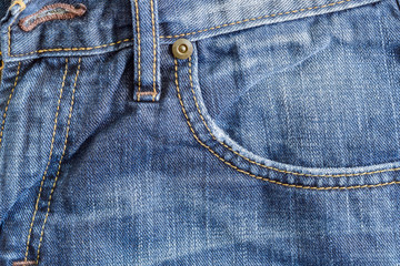 Denim Blue Pocket Closeup