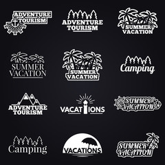 Traveling and vacation icons Set