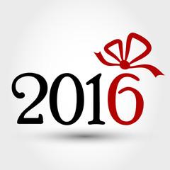 new year 2016 ribbon