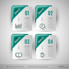 Business infographics template for web design