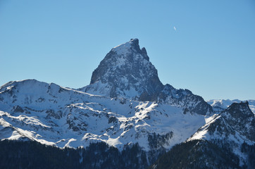 The pic du Midi d'Ossau in the French Pyrenees