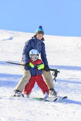 Skikurs mit der Mama