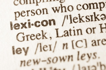 Dictionary definition of word lexicon