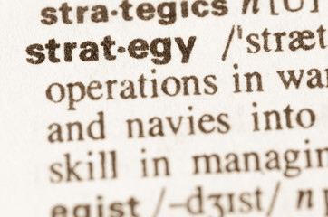 Dictionary definition of word strategy