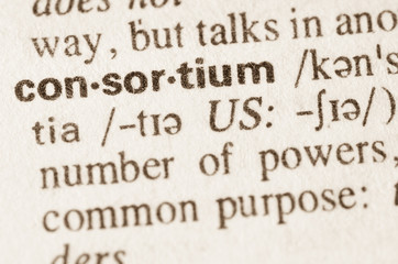 Dictionary definition of word consortium