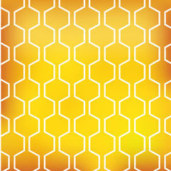 honey pattern on yellow background