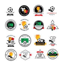 Set of vector soccer badge, labels,emblems.