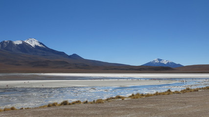 Lagoon and mountains in Bolivia