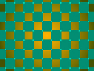 green and gold abstract background, squares