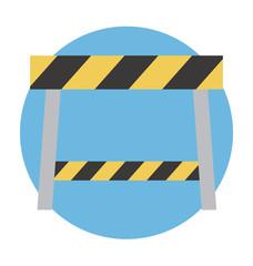 Construction Barrier Vector Illustration
