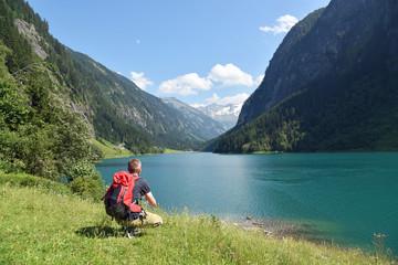 Idylle am Stillup Speicher im Zillertal / Österreich