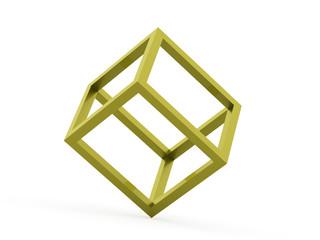 3D cube logo design icon