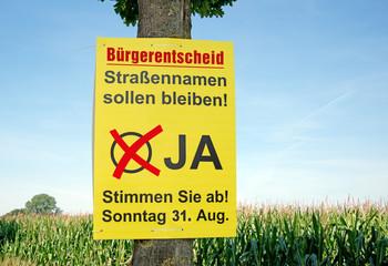 Wahlplakat Bürgerentscheid