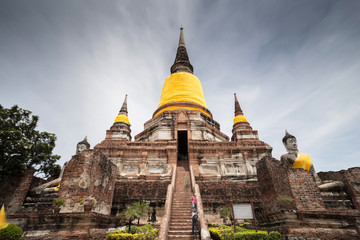 Ancient Temple and Statue Buddha of Ayutthaya Thailand