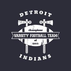 Football team vintage grunge emblem, logo, vector illustration, eps10, easy to edit