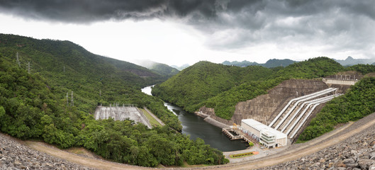 The power station at the Dam in Thailand