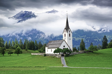 Old stone church, Switzerland.