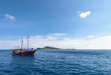 Sea travel by boat at Similan island, Thailand