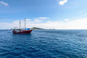Sea travel by boat at Similan island, Thailand