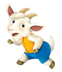 Cartoon goat - illustration for the children