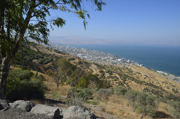 the Sea of Galilee and Tiberias