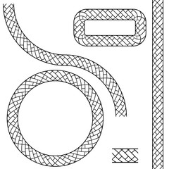 Repeating Black Rope Pattern Icon