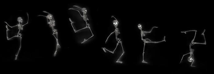 Dancing Skeleton X-Ray