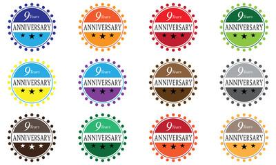 9 Years Anniversary Badger Set