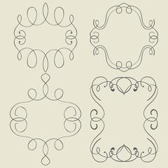 set. Frames. Hand drawing