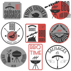 Set retro vintage badges, ribbons and labels hipster signboard