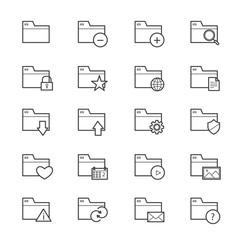 Folder Icons Line
