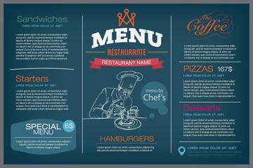 menu restaurant template.
