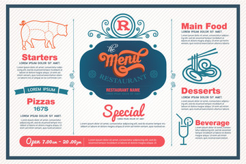 menu restaurant template.