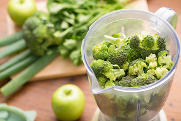 Blender with broccoli
