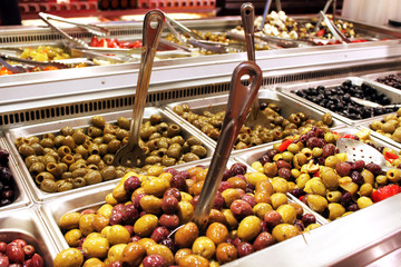 Olives salad bar