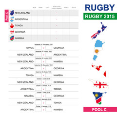 Rugby 2015, Pool C, Match Schedule, all matches, time and place.