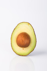 Avocado. Avocado on a Background