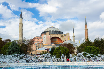 View on Aya Sofia Temple in Istanbul