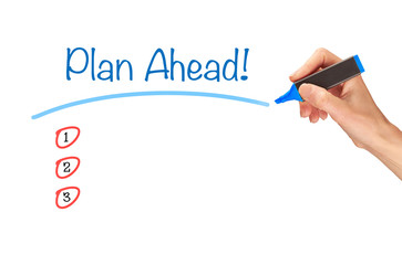 Plan Ahead Concept.