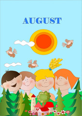august - agosto