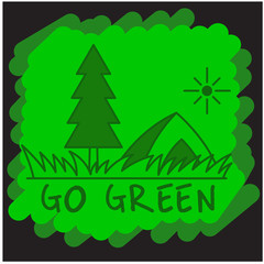 Go Green Taglines Clipart Illustration