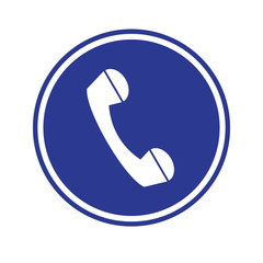 Telephone icon  blue