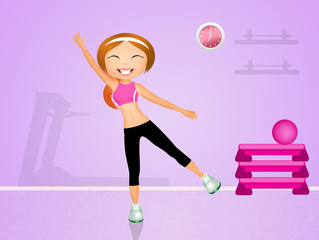 exercises in the gym