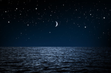Wall Mural - Sternenhimmel über dem Meer