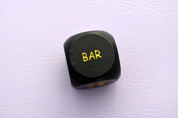 Bar, Ereigniswürfel, schwarz