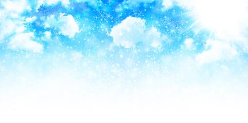 雪 空 背景