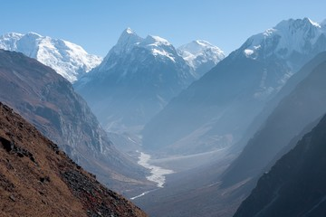 Wall Mural - View of Langtang Valley with Mt. Sishapangma in the Background, Langtang, Bagmati, Nepal