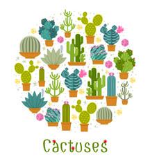 Wall Mural - Cactus label